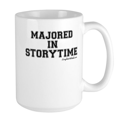 Majored In Storytime Large Mug