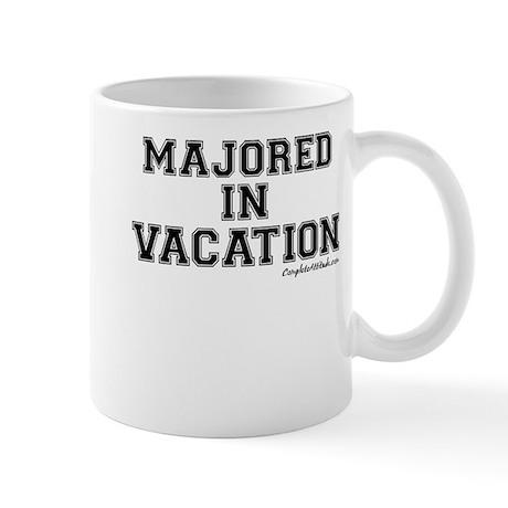 Majored In Vacation Mug