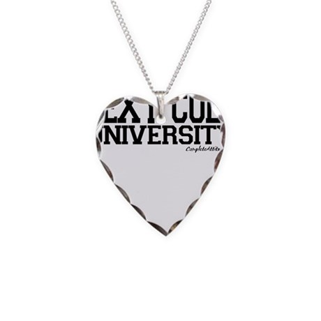 Sexy Coed University Necklace Heart Charm