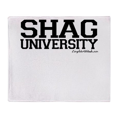 Shag University Throw Blanket