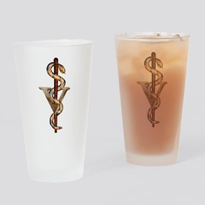 Veterinary Emblem Drinking Glass
