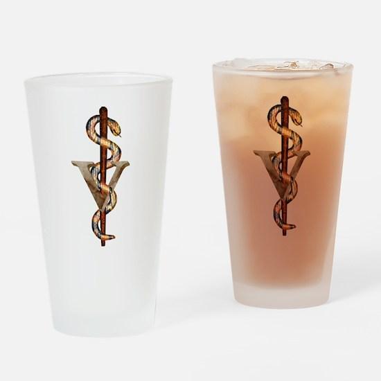 Veterinary Emblem Drinking Glass