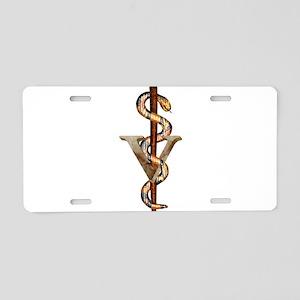 Veterinary Emblem Aluminum License Plate