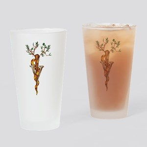 Veterinarian Caduceus Drinking Glass