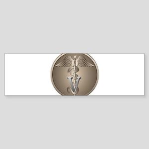 Veterinarian Caduceus Sticker (Bumper)