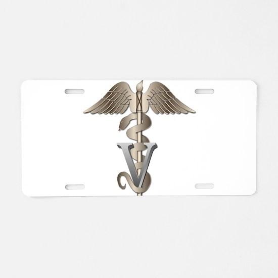 Veterinarian Caduceus Aluminum License Plate
