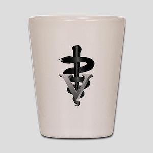 Veterinary Caduceus Shot Glass