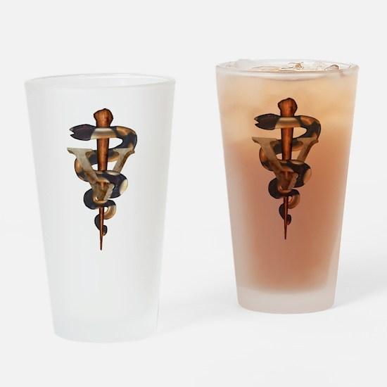Veterinary Caduceus Drinking Glass