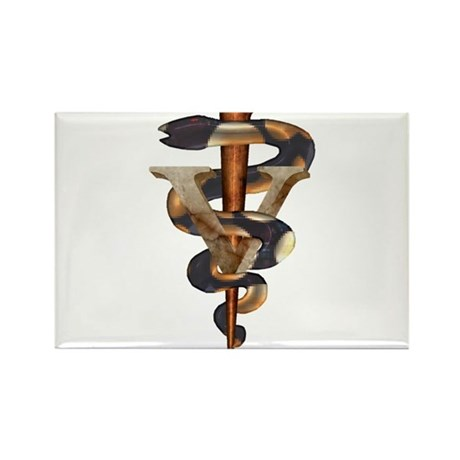 Veterinary Caduceus Rectangle Magnet (10 pack)