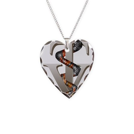 Veterinary Tech Necklace Heart Charm