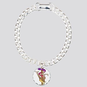 Veterinary Tech Charm Bracelet, One Charm