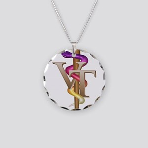Veterinary Tech Necklace Circle Charm