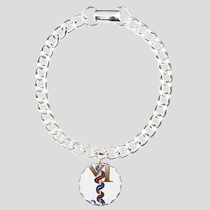 Veterinary Tech Charm Bracelet, One Charm