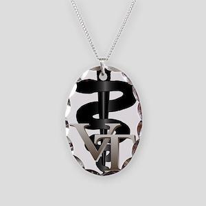 Veterinary Tech Necklace Oval Charm