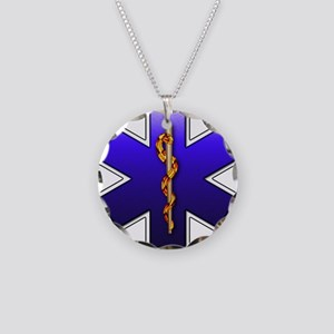 Star of Life(EMS) Necklace Circle Charm