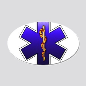 Star of Life(EMS) 22x14 Oval Wall Peel