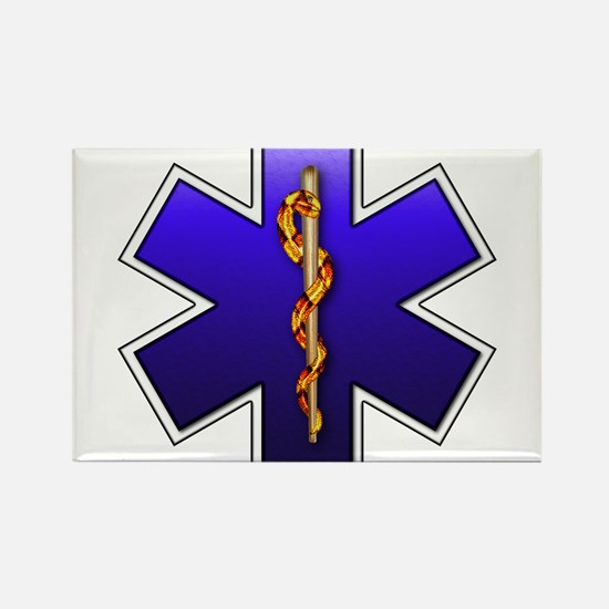 Star of Life(EMS) Rectangle Magnet
