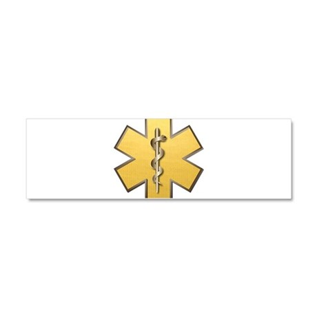 Star of Life(Gold) Car Magnet 10 x 3