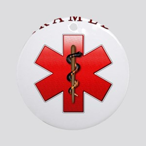 Paramedic(Red) Ornament (Round)