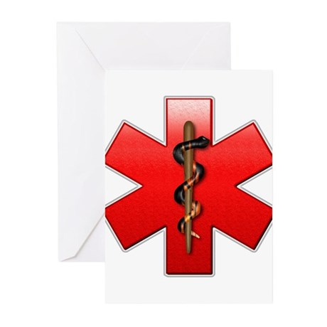 Star of Life(Red) Greeting Cards (Pk of 20)