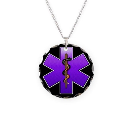 Star of Life(Violet) Necklace Circle Charm