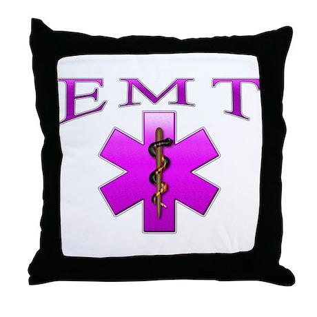 EMT(pink) Throw Pillow