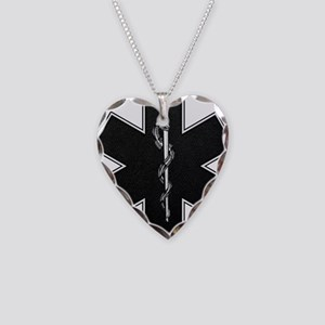 Star of Life(BW) Necklace Heart Charm