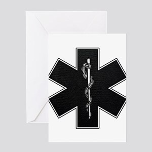 Star of Life(BW) Greeting Card