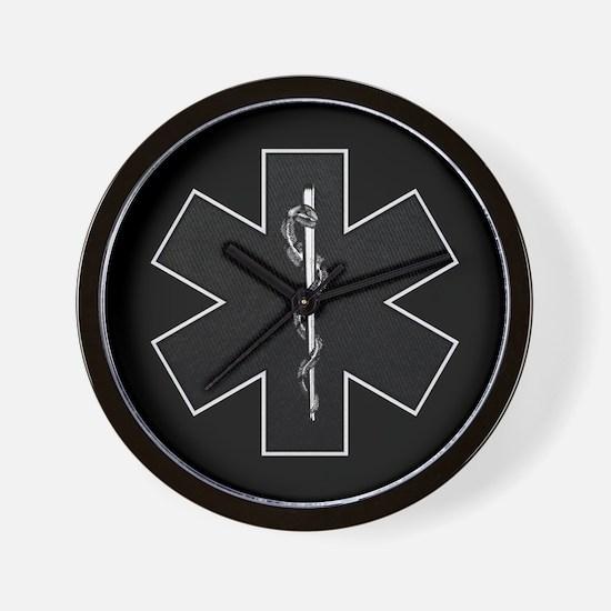Star of Life(BW) Wall Clock