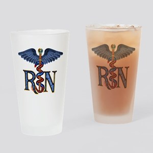 RN Caduceus Drinking Glass