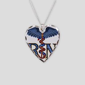 RN Caduceus Necklace Heart Charm