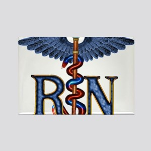 RN Caduceus Rectangle Magnet