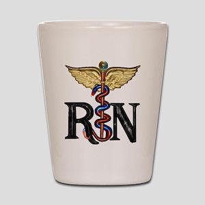 RN Caduceus Shot Glass