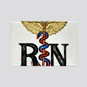 RN Caduceus Rectangle Magnet