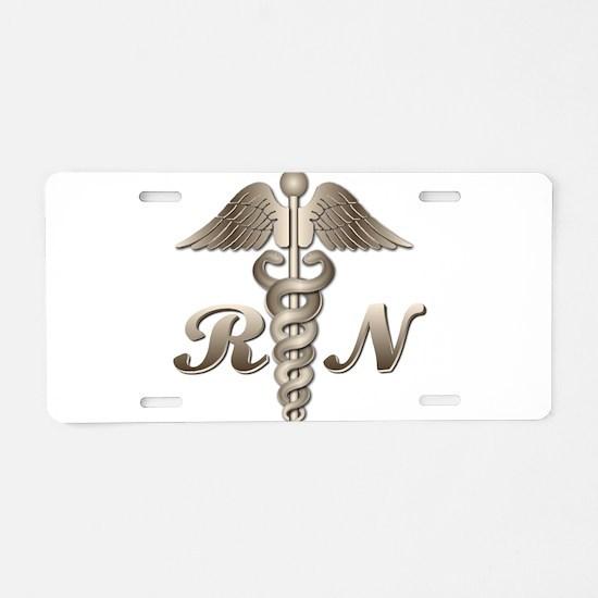 RN Caduceus Aluminum License Plate