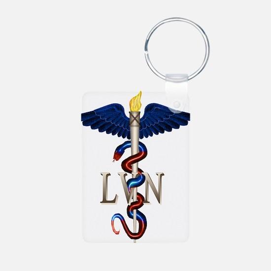 LVN Caduceus Keychains