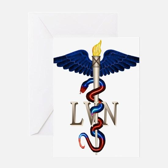 LVN Caduceus Greeting Card