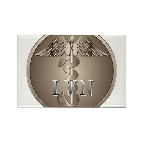LVN Caduceus Rectangle Magnet (100 pack)