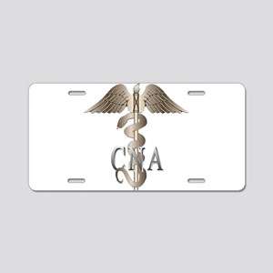 CNA Caduceus Aluminum License Plate