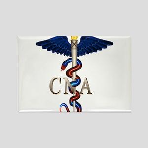 CNA Caduceus Rectangle Magnet