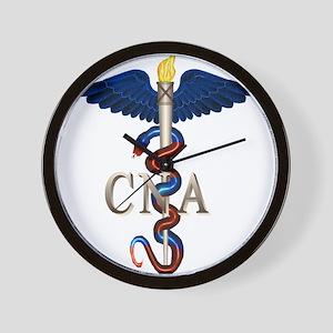 CNA Caduceus Wall Clock