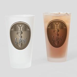 LPN Caduceus Drinking Glass