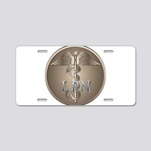 LPN Caduceus Aluminum License Plate