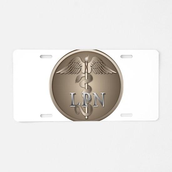 LPN Caduceus Aluminum License Plate