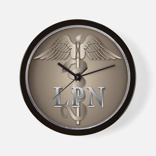 LPN Caduceus Wall Clock