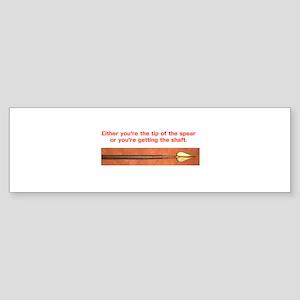 Tip of the Spear Bumper Sticker