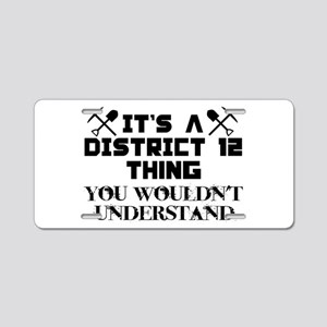 District 12 Thing Aluminum License Plate