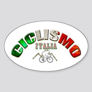 Italy Cycling Sticker (Oval)