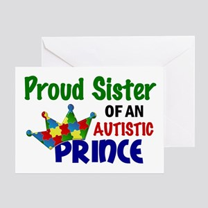 Proud Of My Autistic Prince Greeting Card
