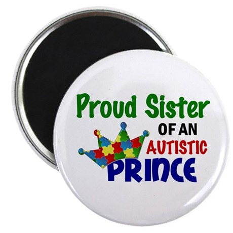 "Proud Of My Autistic Prince 2.25"" Magnet (100 pack"